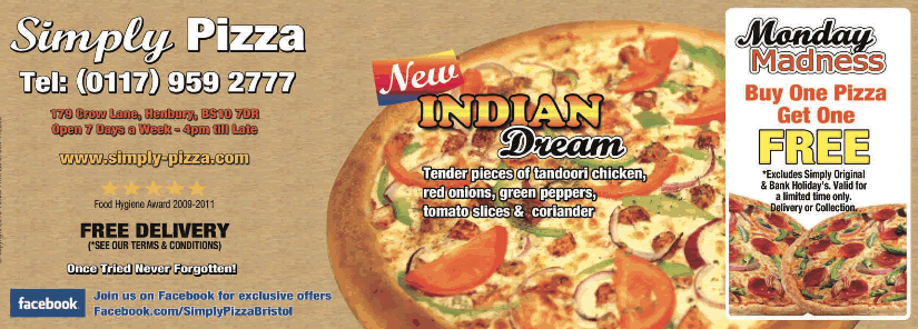 Simply Pizza leaflet