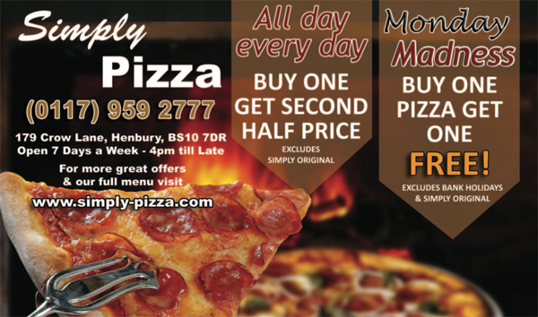 Simply Pizza Flyer