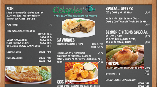 Crispies Menu