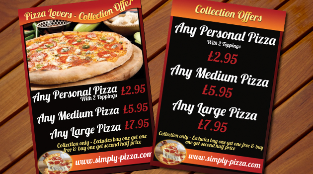 Simply Pizza Flyer 2013